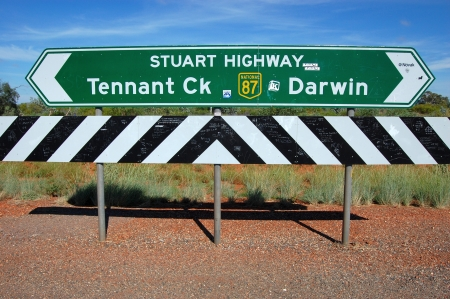 darwin: Road sign Editorial