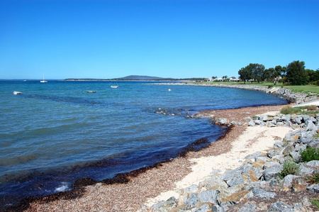 Coastal area in Port Lincoln, South Australia Standard-Bild