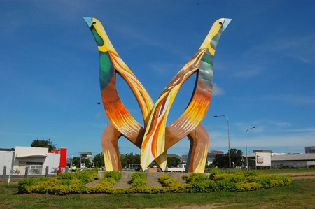 Monument named  Birds , Port Moresby, Papua New Guinea