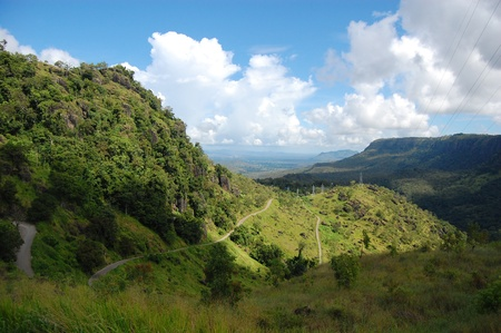 Mountain road nearby Port Moresby in Papua New Guinea