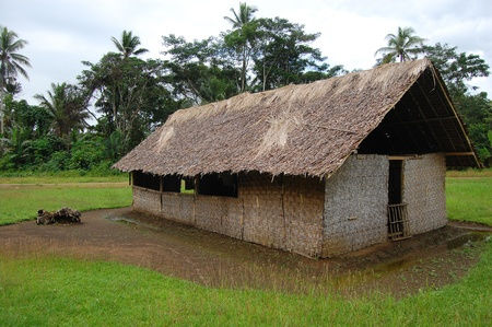 png: Village church in outback of Papua New Guinea
