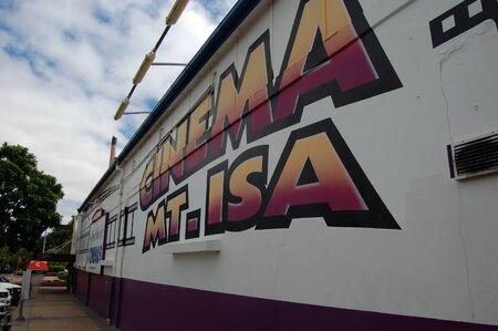 cin: Mount Isa city cinema building, Queensland, Australia Editorial