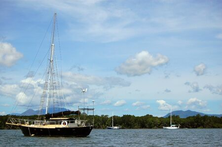 Yachts in the river nearby Cairns, Australia Stock Photo - 15208082