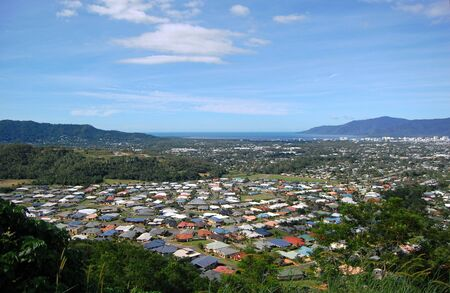 cairns: Cairns suburb view from the hill, Australia