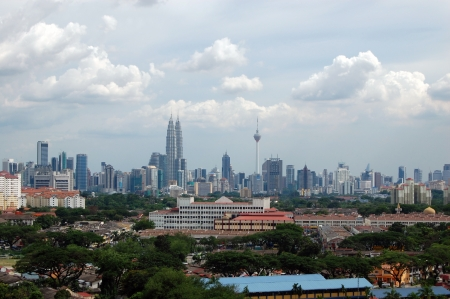 Kuala Lumpur city center scenic view, Malaysia Stock Photo