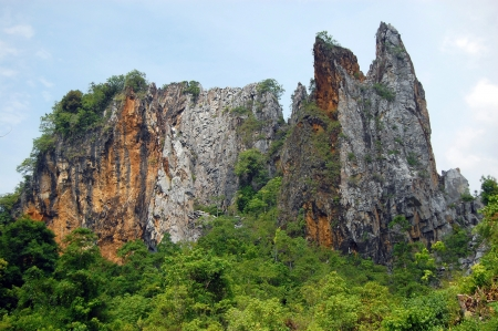 gua: Big rock Kampung Gua near Kuala Lipis in Malaysia