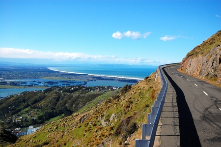 Summit Road near Christchurch, New Zealand Standard-Bild