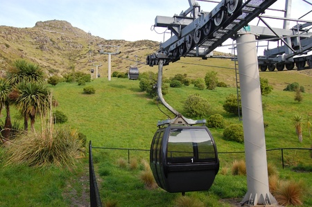 ropeway: Cable road in Christchurch, South Island, New Zealand