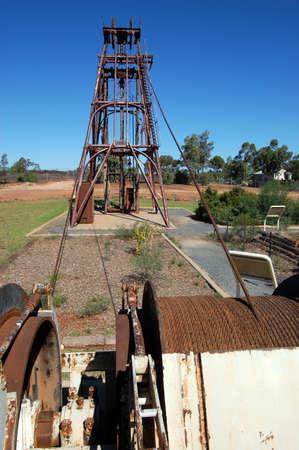 Gold mining industrial monument, Australia photo