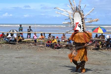 new guinea: Danza tradizionale maschera festival di Papua Nuova Guinea, Provincia del Golfo