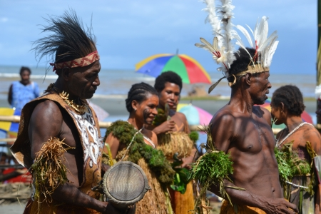 Traditional dance mask festival Papua New Guinea, Gulf Province