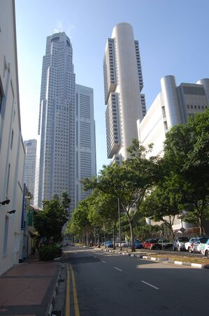 High buildings in city center Singapore