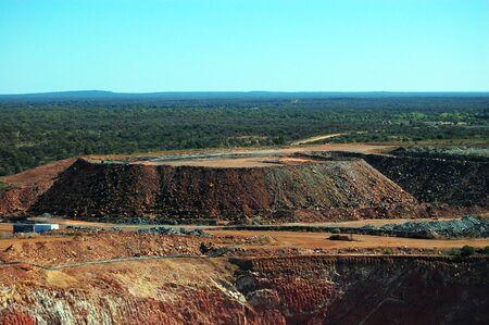 Gold mine open pit hills, Cobar, Australia photo