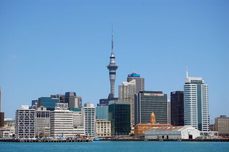 Auckland city view from sea, New Zealand