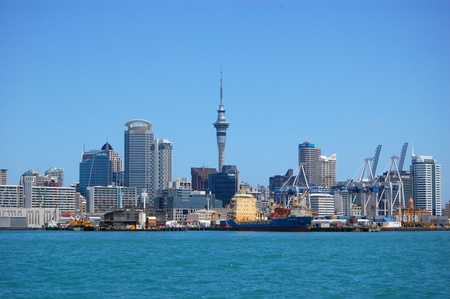 Auckland city center view, New Zealand Stock Photo