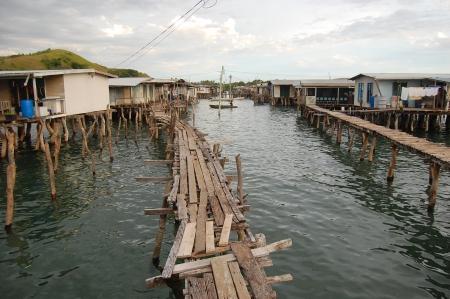 Nuova Guinea: Village in acqua, Papua Nuova Guinea Archivio Fotografico