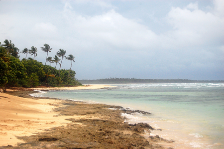 tonga: Ocean coast low tide South Pacific, Kingdom of Tonga Stock Photo