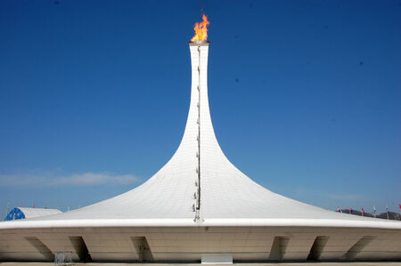 olympic symbol: Olympic fire at XXII Winter Olympic Games Sochi 2014, Russia