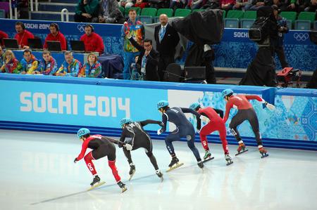 Short-trek speed skating at XXII Winter Olympic Games Sochi 2014, Russia, 15 02 2014 Editorial