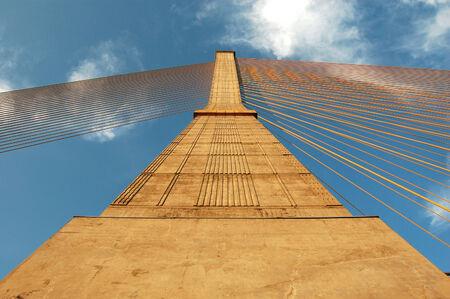 architectonics: Cable bridge pylon, Bangkok, Thailand