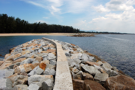 lithic: Coast defences at Southern Thailand