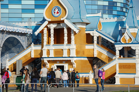 'ded moroz': Ded Moroz visitor house at XXII Winter Olympic Games Sochi 2014, Russia