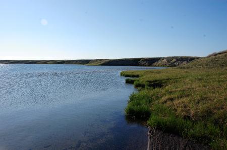 Tundra lake at Ayon Island, Chukotka, Russia