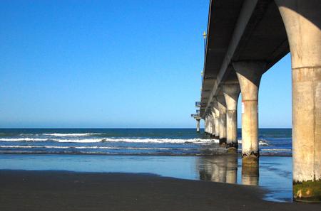 New Brighton concrete pier Christchurch, New Zealand