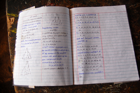 Pages of high school student exersize book, Papua New Guinea