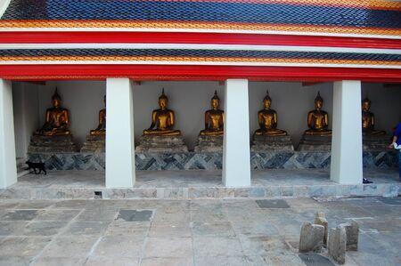 Buddha statues at Wat Pho, Bangkok city, Thailand