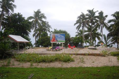 south pacific: South Pacific christian cemetery, Haapai Island, Polynesia, Tonga Editorial