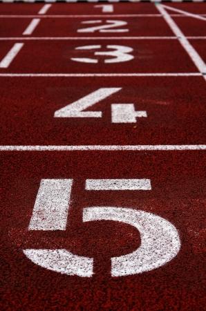 canvass: N�meros impresos en una pista de atletismo