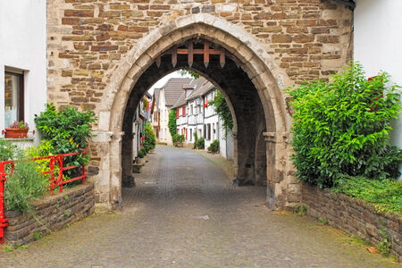 portcullis: Image of a portcullis entrance into an ancient german street