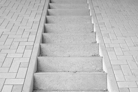 nowhere: Conceptual image of a concrete staircase leading nowhere