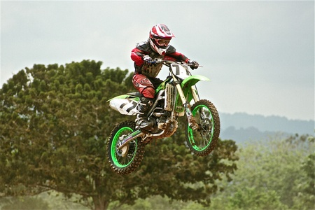 Dirt Bike Racer Editorial