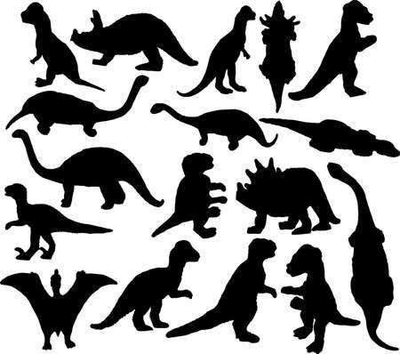 Silhouetten der Dinosaurier  Standard-Bild - 2177830
