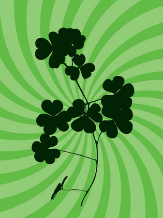 clover on abstract background Vector