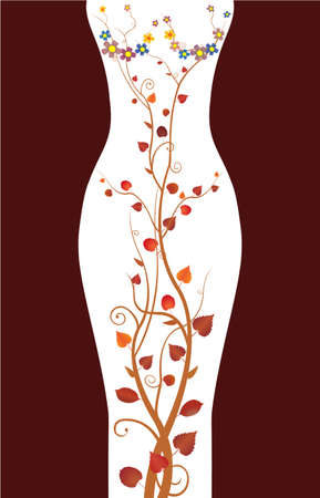 sensuality: floral in shape of woman