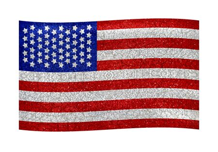 American flag illustration Use it for any kind of design related with america, like patriotic, holidays, sports, etc  illustration