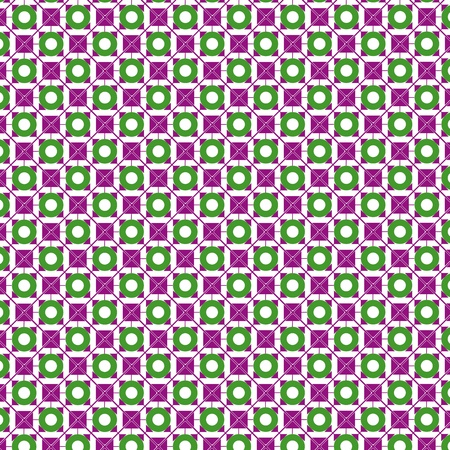 modules: Circles and Square Pattern in violet, green and white tones
