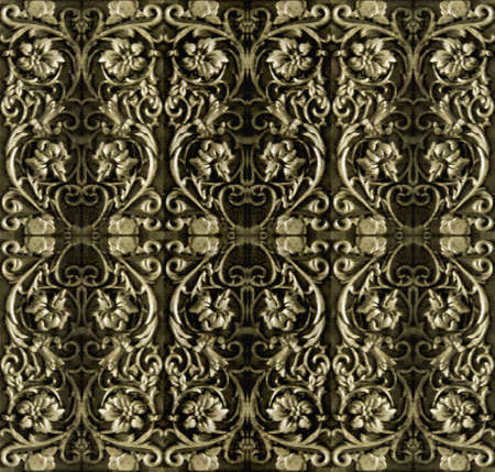 mixedmedia: Ornamental pattern background in brown tones. Stock Photo