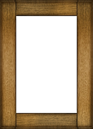 Portrait Photo Frame Mockup In Wood Style Material With White ...