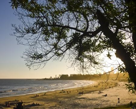 People enjoying South America Montevideo beach in summer