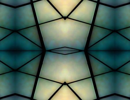 Geometric Space Background in green and pale blue tones. Zdjęcie Seryjne