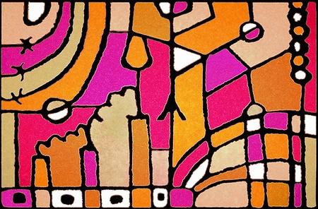 otras: Multicolored hand draw artistic design