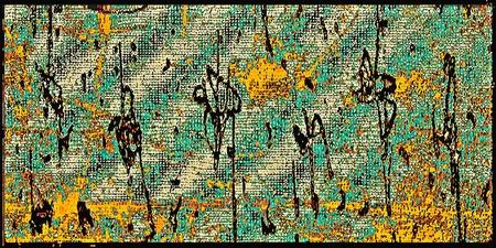 Digital Abstract Design in multicolored scheme.