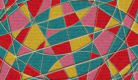 modules: Mutlicolored Grid Background Pattern design.