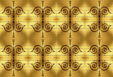 Ornamental Deco Background in yellow and brown tones. Stock Photo - 21196146