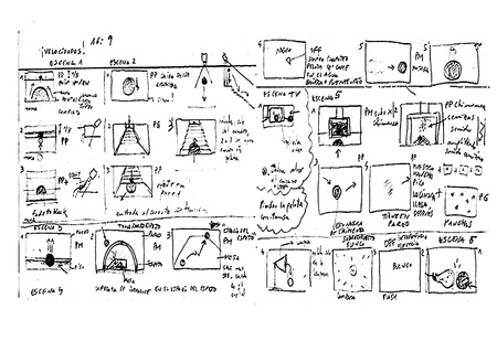 Storyboard Sketch drawing in white background. Archivio Fotografico