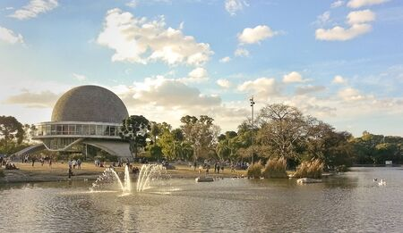 People enjoying a beautiful day at the planetary in Buenos Aires, Argentina